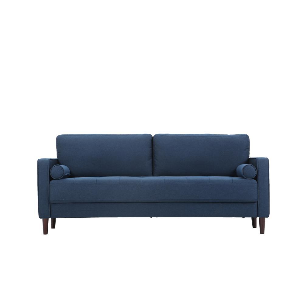 Lillith Mid Century Modern Sofa in Navy Blue