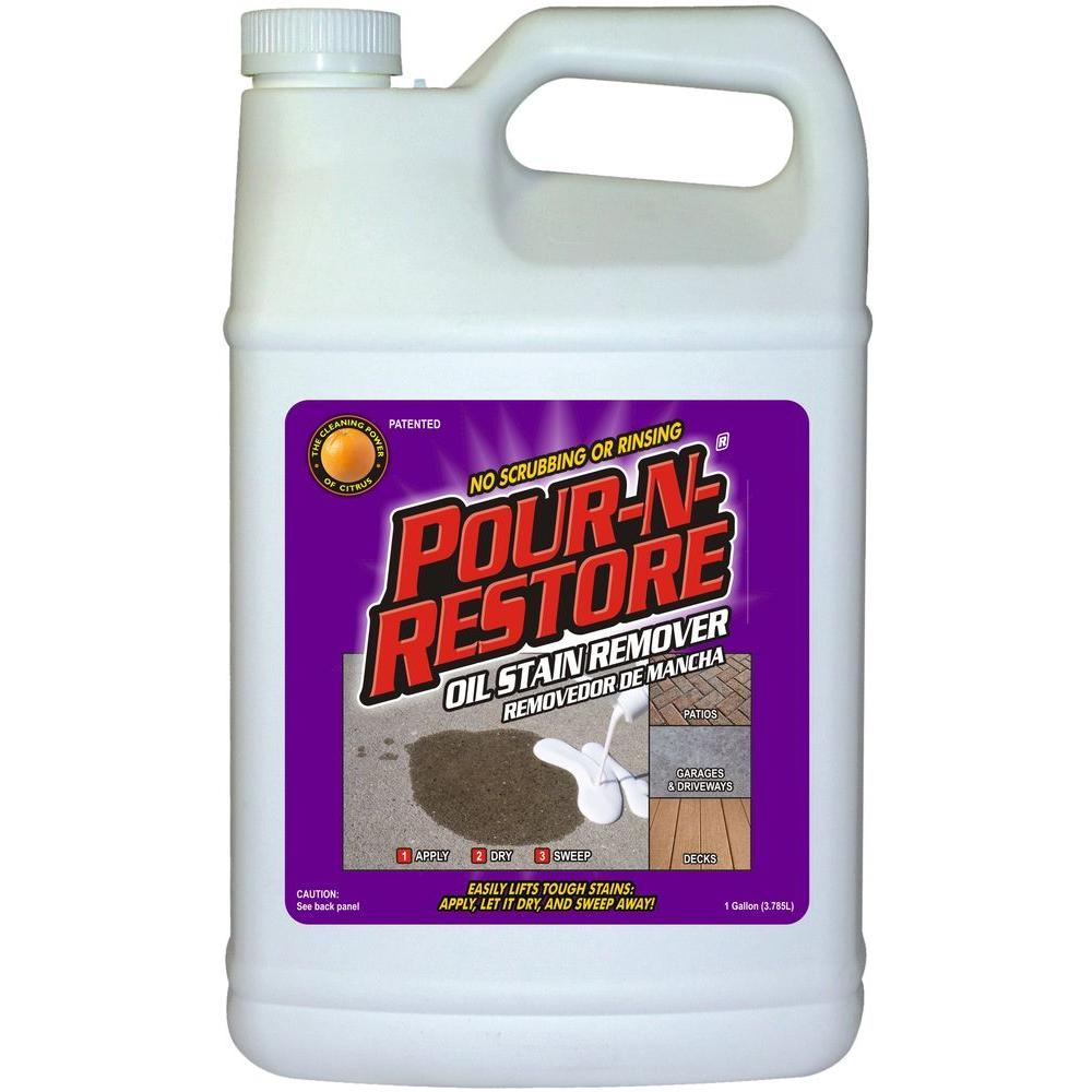 Pour N Restore 1 Gal Oil Stain Remover Pnr01gl The Home