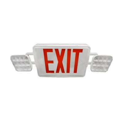 ECL1 50-Watt Equivalent White Integrated LED Emergency Exit Sign with Remote Capability
