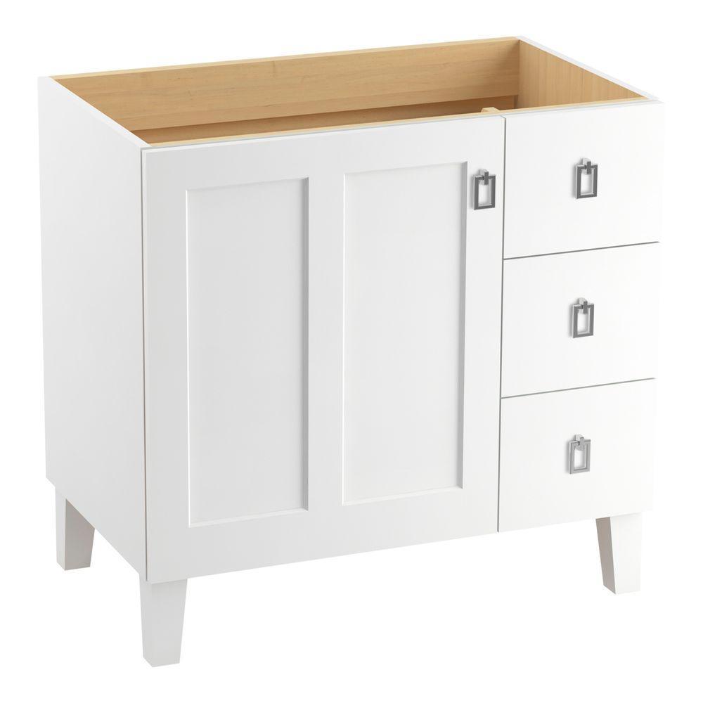 Poplin 36 in. Vanity Cabinet in Linen White