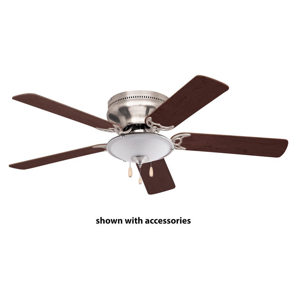 Snugger 52 in. LED Brushed Steel Ceiling Fan