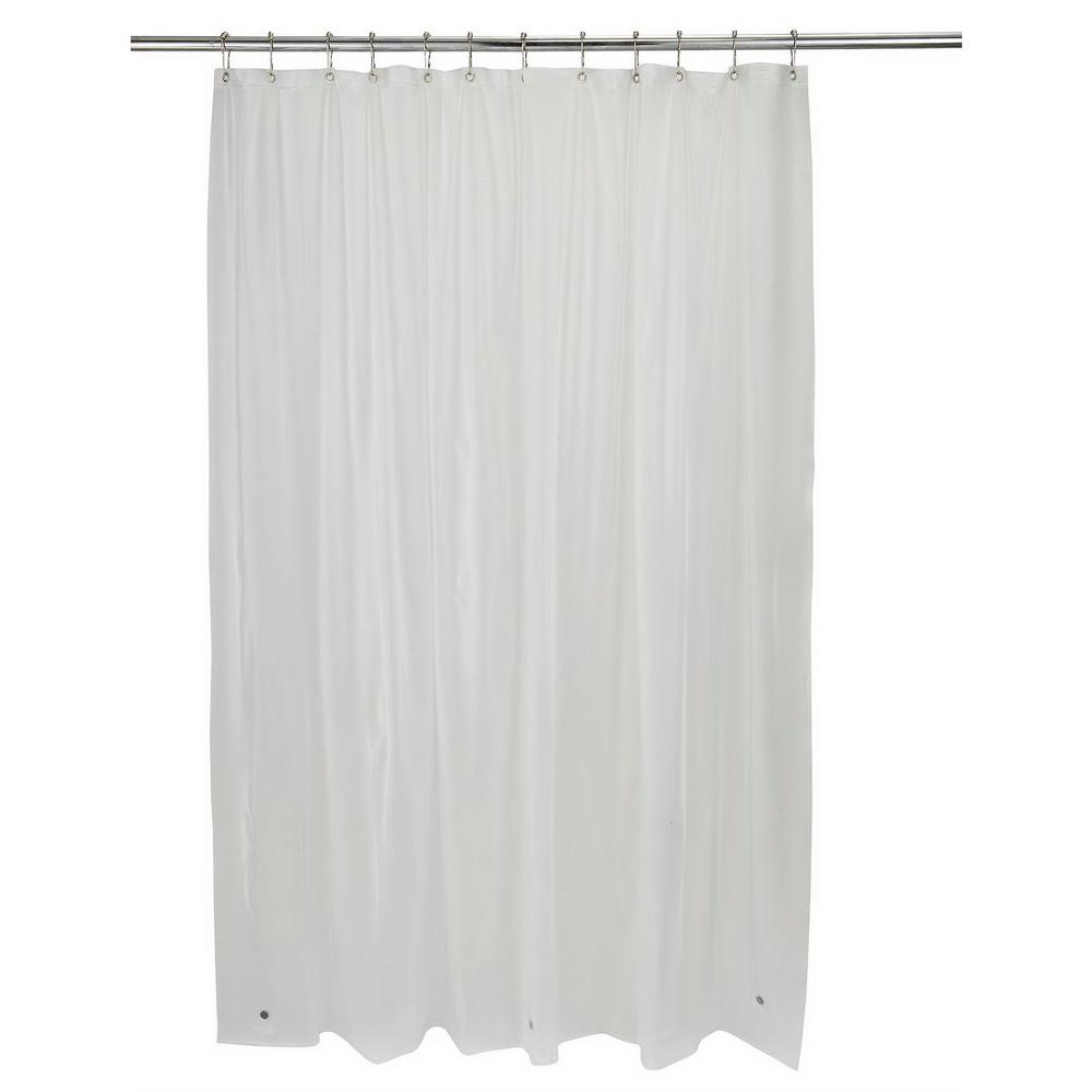 Bath Bliss 70 in. x 72 in. Shower Liner Hotel Weight in Frost