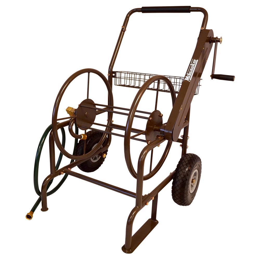 Outdoor Furniture Rental Milwaukee: Milwaukee 250 Ft. 2-Wheel Mobile Hose Reel-HC250MILW