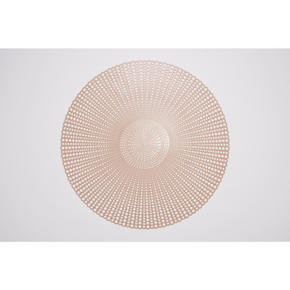 Brocade Tan 100% Eco Friendly Vinyl Placemat (Set of 4)