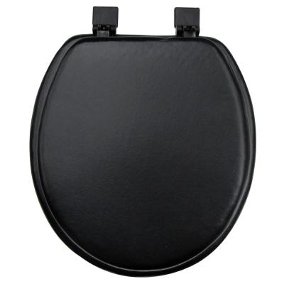 Ginsey Round Closed Front Soft Toilet Seat in Black