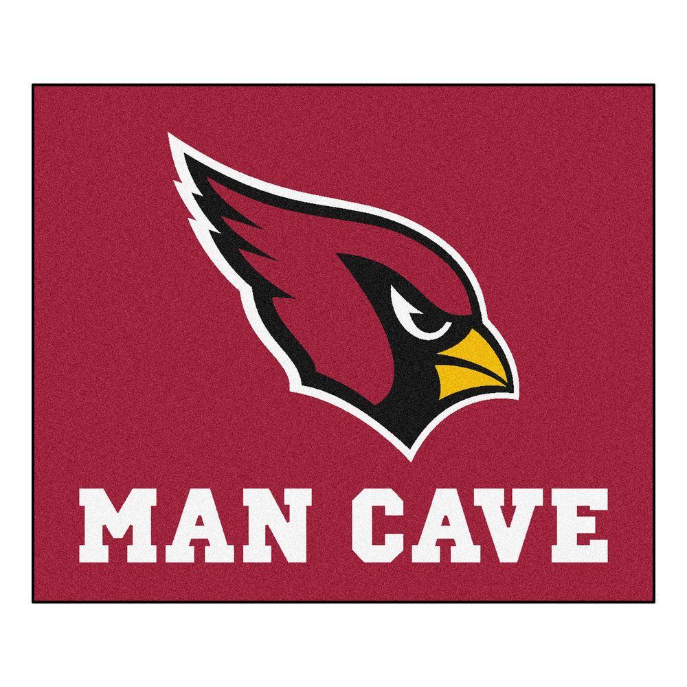 Arizona Cardinals Red Man Cave 5 ft. x 6 ft. Area Rug