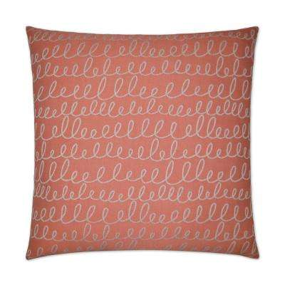 Verbomania Salmon Feather Down 24 in. x 24 in. Standard Decorative Throw Pillow