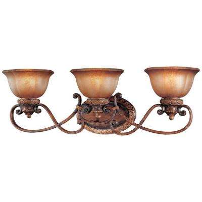 Illuminati 3-Light Illuminati Bronze Bath Light