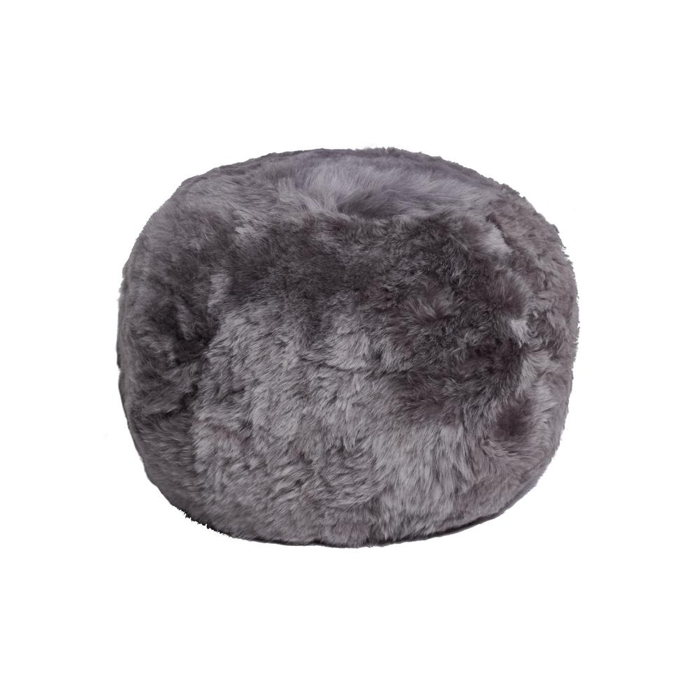 Icelandic Grey Brisa 14 in. x 11 in. Shorthair Sheepskin Floor