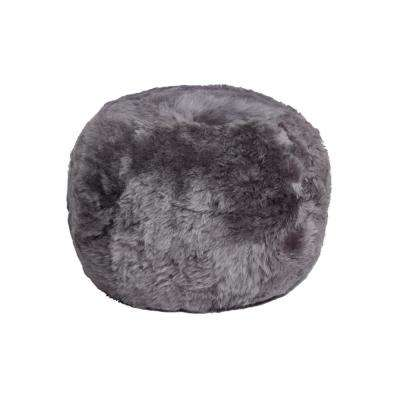 Icelandic Grey Brisa 14 in. x 11 in. Shorthair Sheepskin Floor Cushion