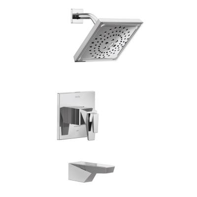 Trillian TempAssure 1-Handle Wall-Mount Tub and Shower Trim Kit in Chrome (Valve not Included)