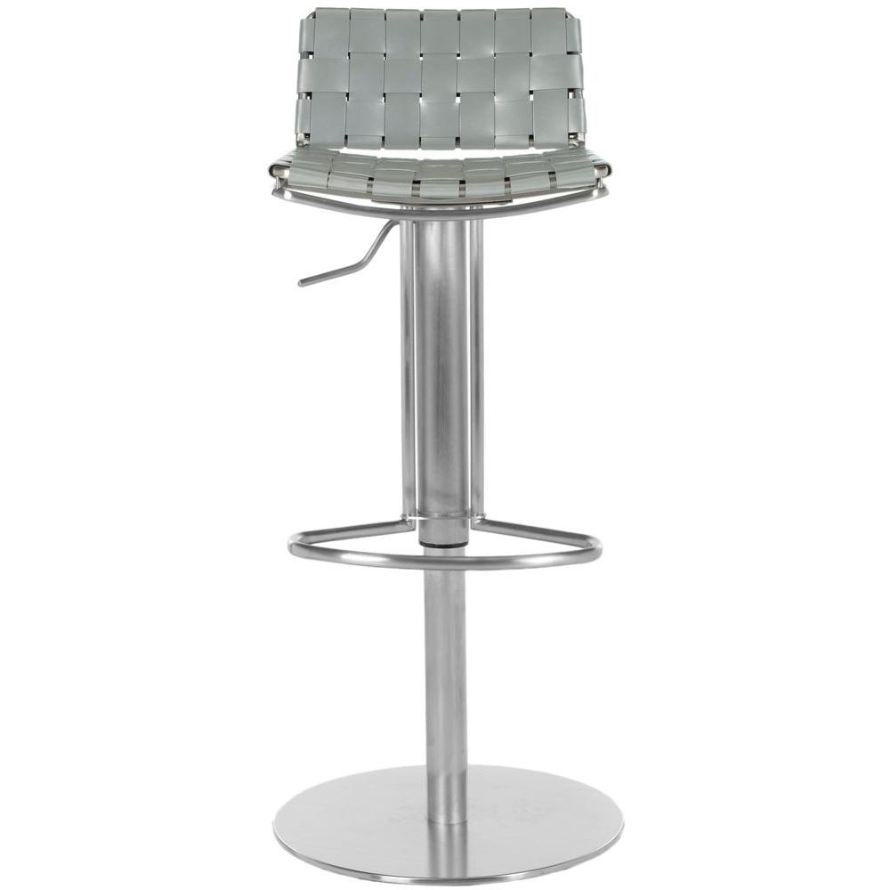 stainless steel bar stools Safavieh Floyd Adjustable Height Stainless Steel Bar Stool  stainless steel bar stools