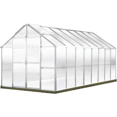 Growers Edition 8 ft. W x 16 ft. D x 7.6 ft. H Aluminum Greenhouse