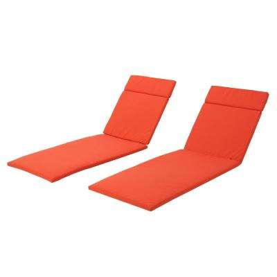 salem orange deep seating outdoor chaise lounge cushion 2 pack - Chaise Orange