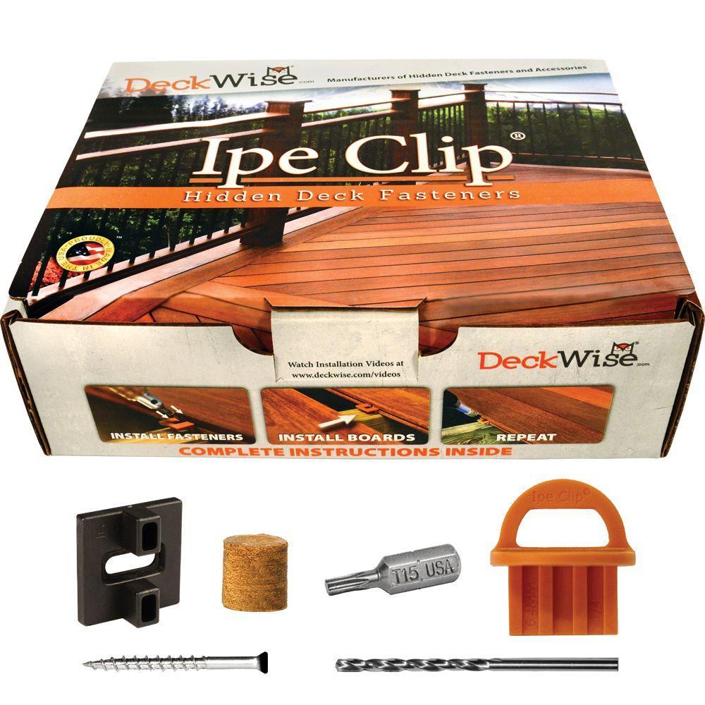 ExtremeKD Ipe Clip Black Biscuit Style Hidden Deck Fastener Kit for Hardwoods (175-Pack)