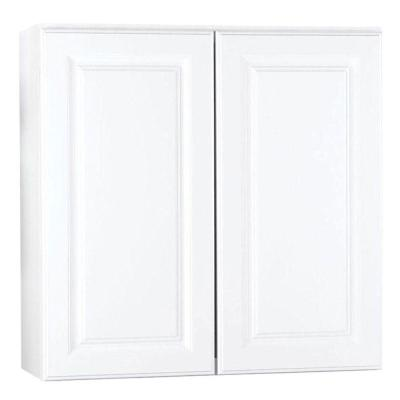 Hampton Assembled 30x30x12 in. Wall Kitchen Cabinet in Satin White
