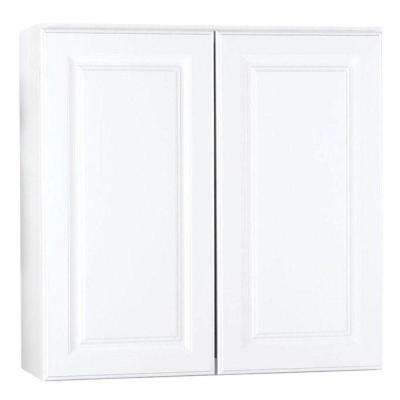 Hampton Assembled 30 in. x 30 in. x 12 in. Wall Kitchen Cabinet in Satin White