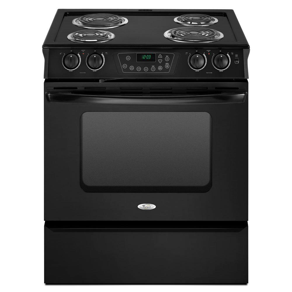 Whirlpool 4.3 cu. ft. Slide-In Electric Range with Self-Cleaning Oven in Black