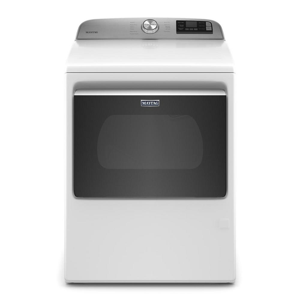 Maytag 7.4 cu. ft. 120-Volt Smart Capable White Gas Dryer with Hamper Door