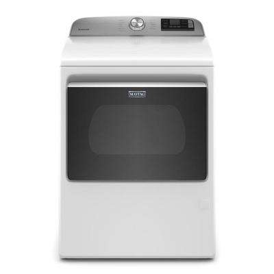 7.4 cu. ft. 120-Volt Smart Capable White Gas Dryer with Hamper Door