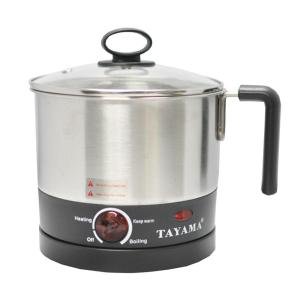 1 Qt. Stainless Steel Slow Cooker with Temperature Settings and Glass Lid