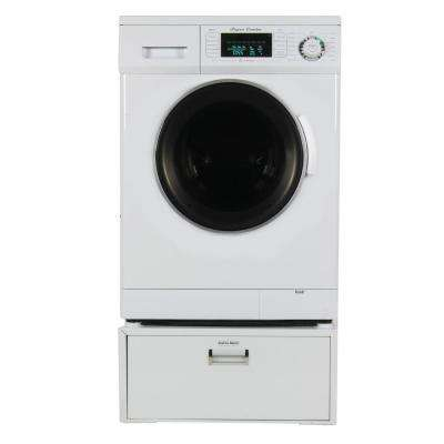 All-in-one 1.6 cu. ft. Compact Combo Washer Dryer with Optional Condensing/Venting and Sensor Dry with Pedestal in White