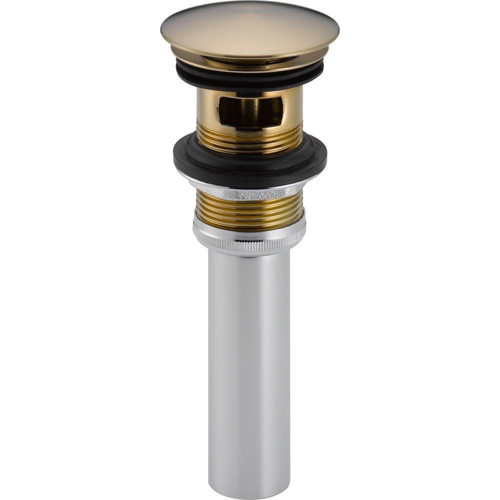 Brass Push Pop-Up Drain in Champagne Bronze