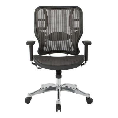 Grey Vertical Chair with Mesh Seat and Back Arms Height Adjustable