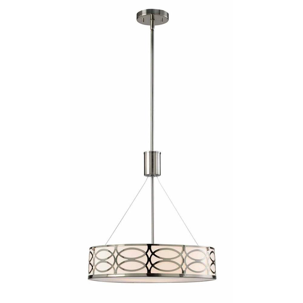 Drake 3 Light Brushed Nickel Chandelier