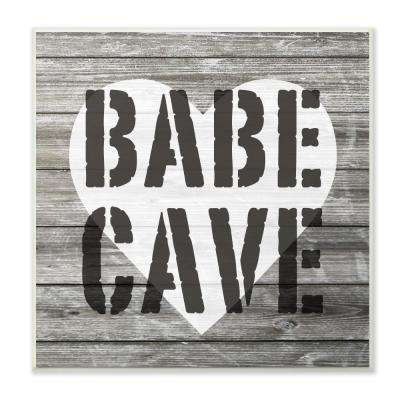 """12 in. x 12 in."""" Babe Cave Glam Girl Planks"""" by Daphne Polselli Printed Wood Wall Art"""
