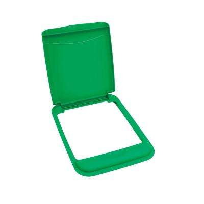 1.75 in. H x 10.7 in. W x 14.75 in. D 50 Qt. Green Waste Container Recycling Lid