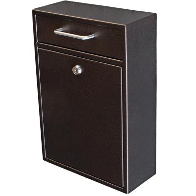 Olympus Locking Wall-Mount Drop Box with High Security Patented Lock, Bronze