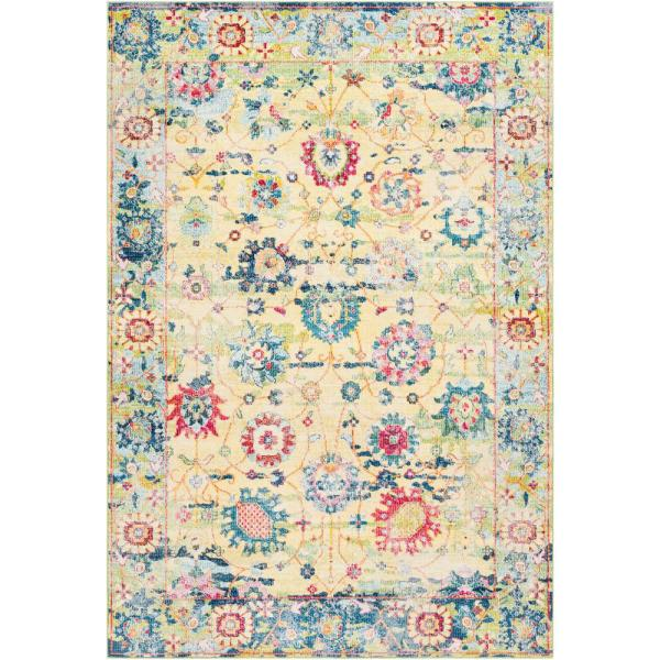 Maisonnette Yellow 8 ft. x 10 ft. Area Rug