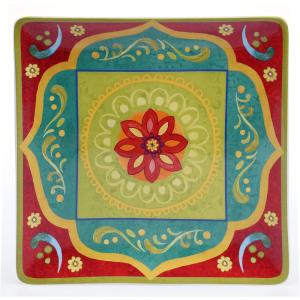 Tunisian Sunset Square Platter by