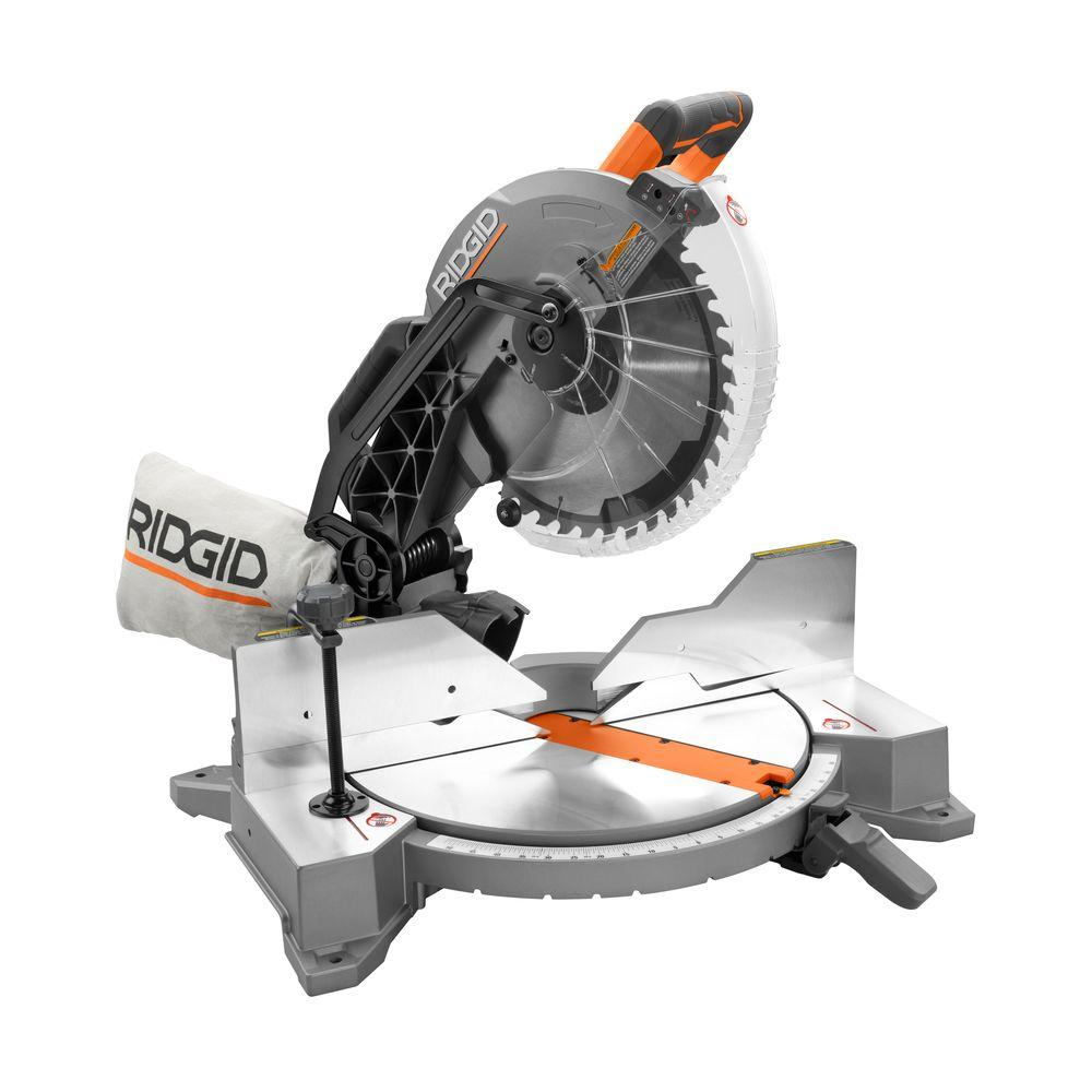 Ridgid 15 amp 12 in dual bevel miter saw with laser r4122 the dual bevel miter saw with laser r4122 the home depot greentooth Image collections