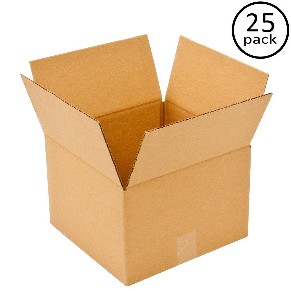 Plain Brown Box 12 in. x 12 in. x 8 in. 25-Box Bundle
