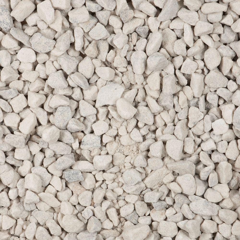 Vigoro 0 5 cu ft white marble chips 54141 the home depot for White decorative rock landscaping