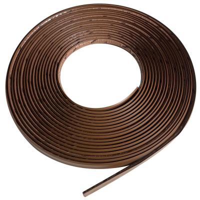 3/4 in. x 50 ft. Dark Brown PVC Inside Corner Self-adhesive Flexible Trim Molding
