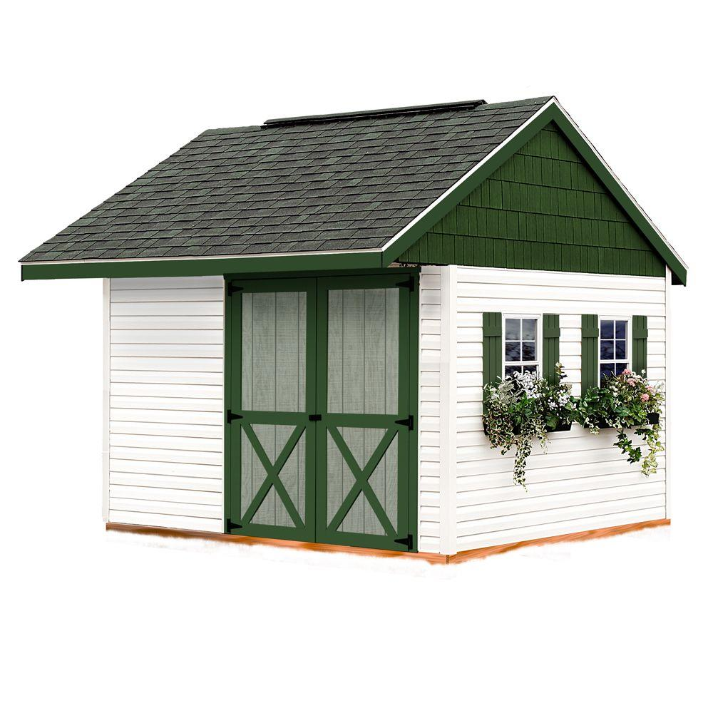 Best Barns Clarion 10 ft. x 10 ft. Prepped for Vinyl Storage Shed Kit with Floor