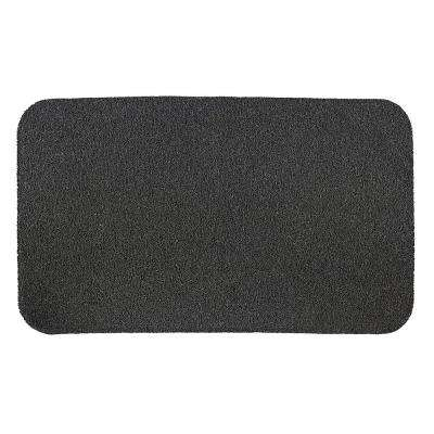 Just Charcoal 30 in. x 18 in. PVC Door Mat