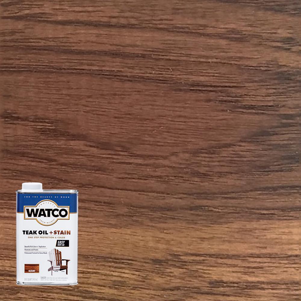 Watco 1 qt. Hazelnut Teak Oil (4-Pack)