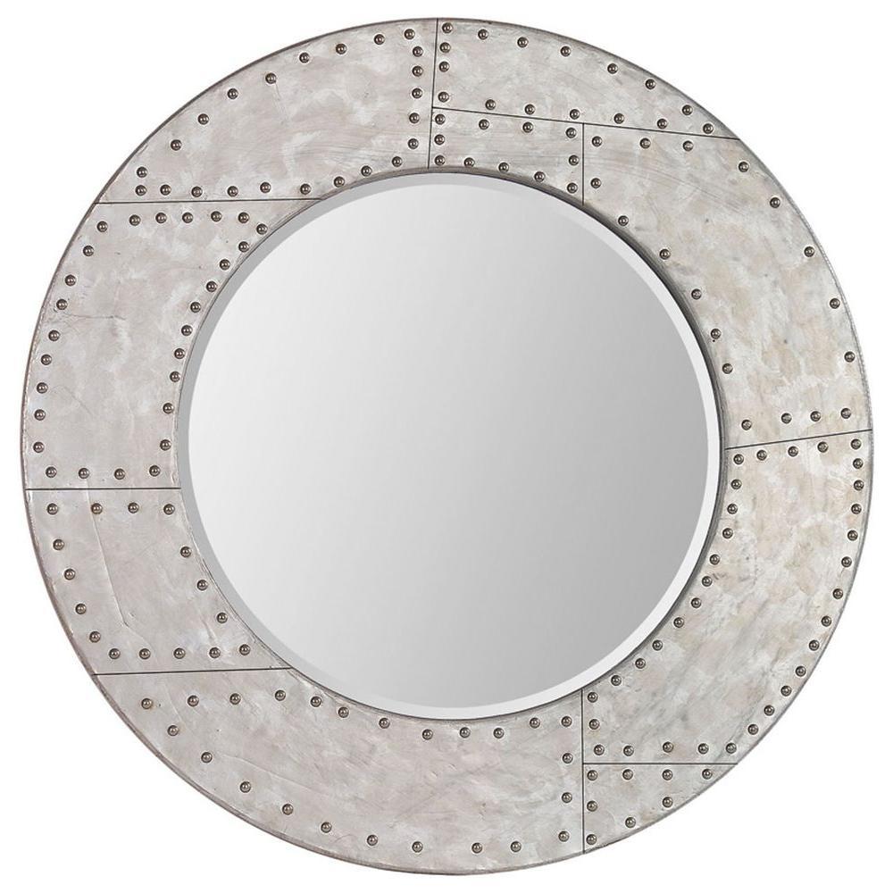 Ren-Wil Luna 36 in. x 36 in. Silver Leaf Mirror