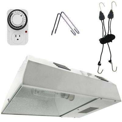 15 in. 150-Watt White Greenhouse Plant Grow Light System and Timer