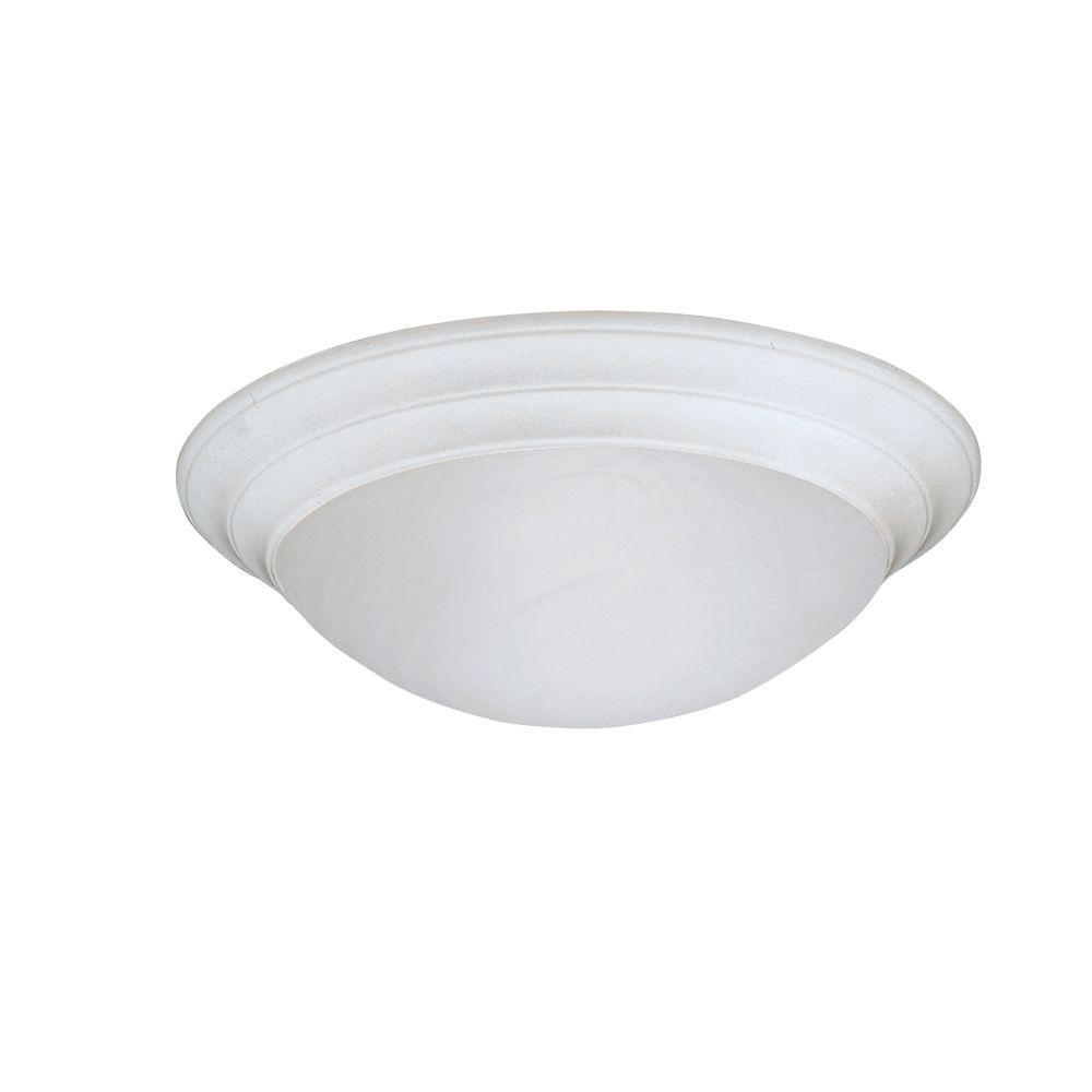 Clovis Collection 2-Light Solid White Ceiling Flushmount