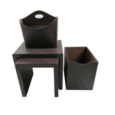 Upscale Designs Dark Brown Side Table (Set of 4)