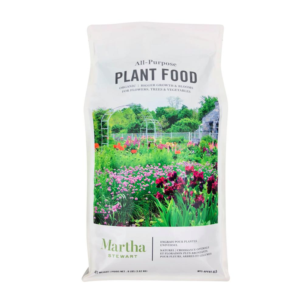 Martha Stewart Living 8 lbs. Organic All Purpose Plant Food for Flowers, Shrubs and Vegetables