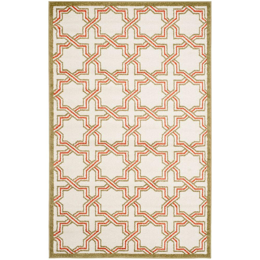 Safavieh Amherst Ivory/Light Green 5 ft. x 8 ft. Indoor/Outdoor Area Rug