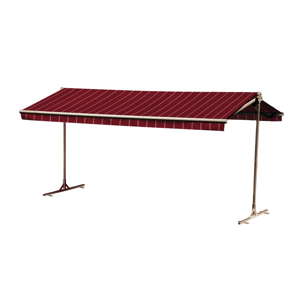 16 ft. Oasis Freestanding Manual Retractable Awning (120 in. Projection) in