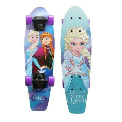 Disney Frozen 21 in. Wood Cruiser Skateboard in Winter Queen Graphic