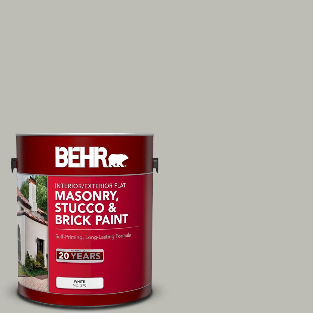 1 gal. #MS-80 Granite Flat Interior/Exterior Masonry, Stucco and Brick Paint